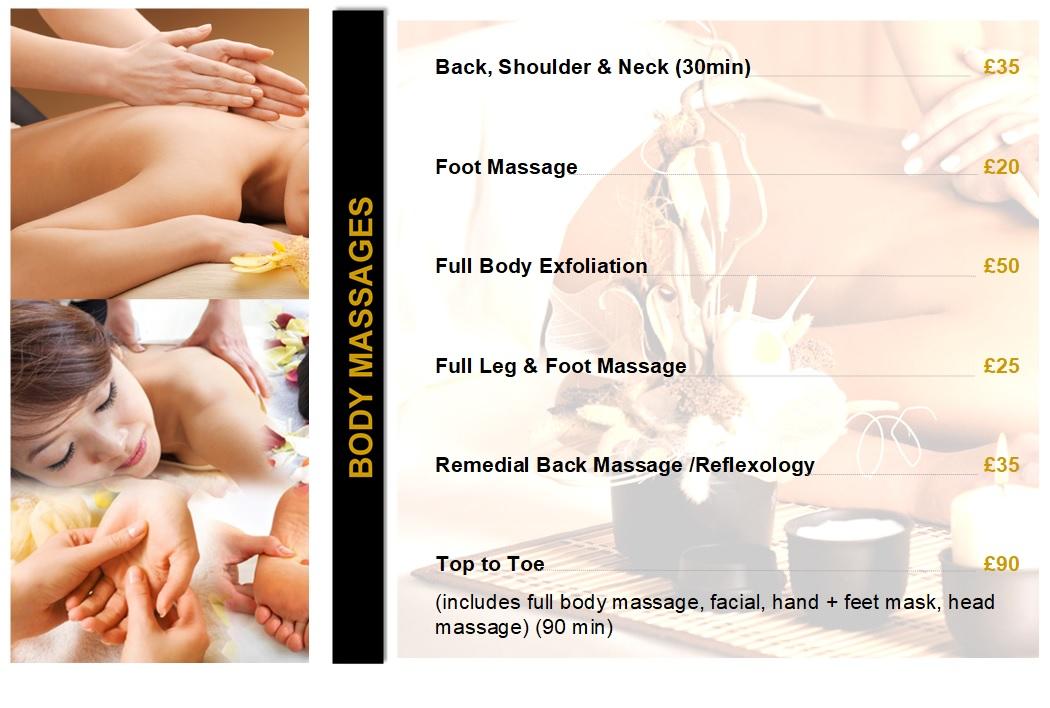 Ladies Body Massage
