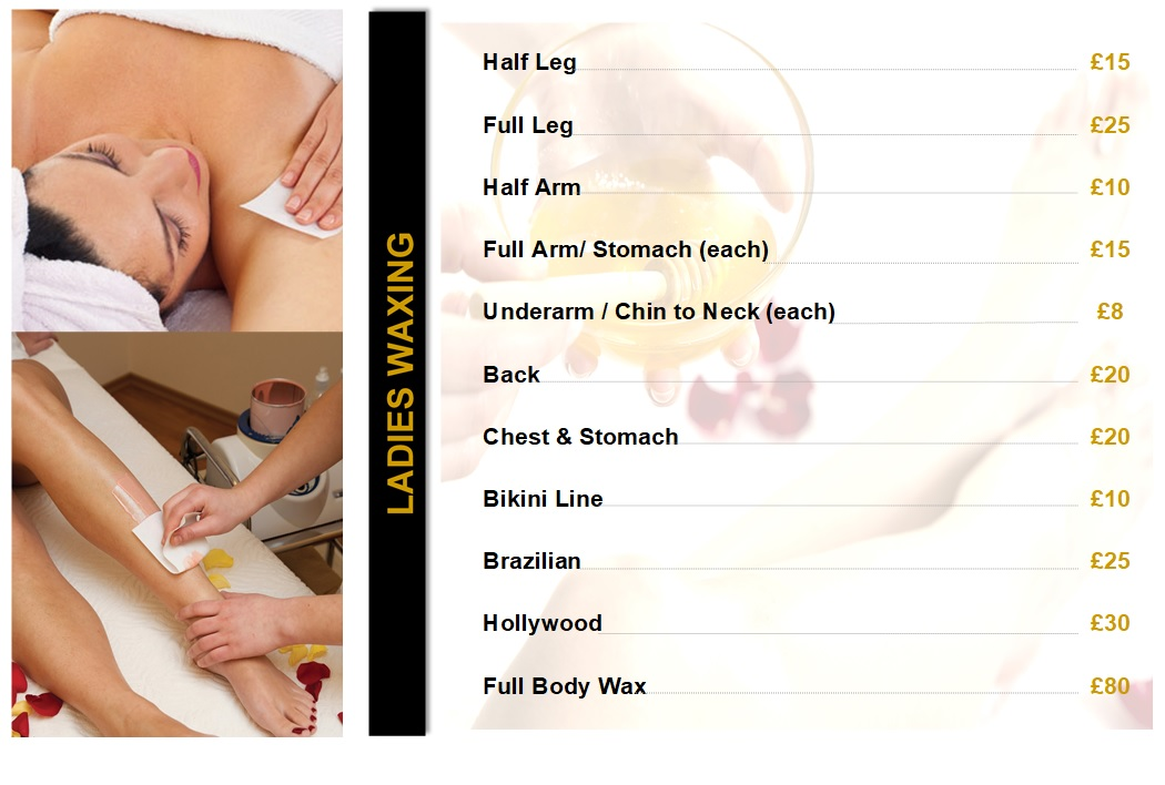Ladies Waxing - Price